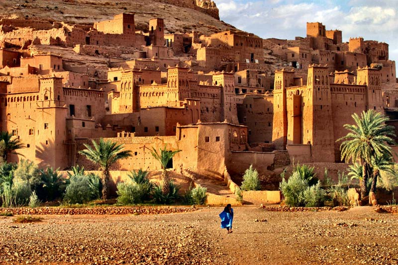 sightseeing of kasbah ait-ben-haddou