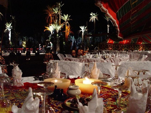 Incentive in Morocco palm grove marrakech dinner