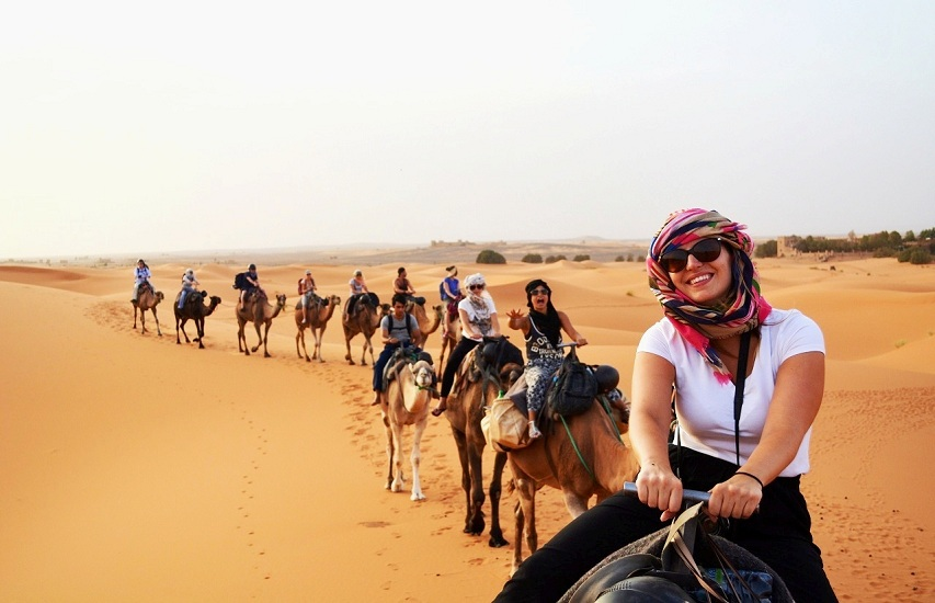 DMC in Morocco Excel Travel Morocco luxury Desert Tour Camels riding